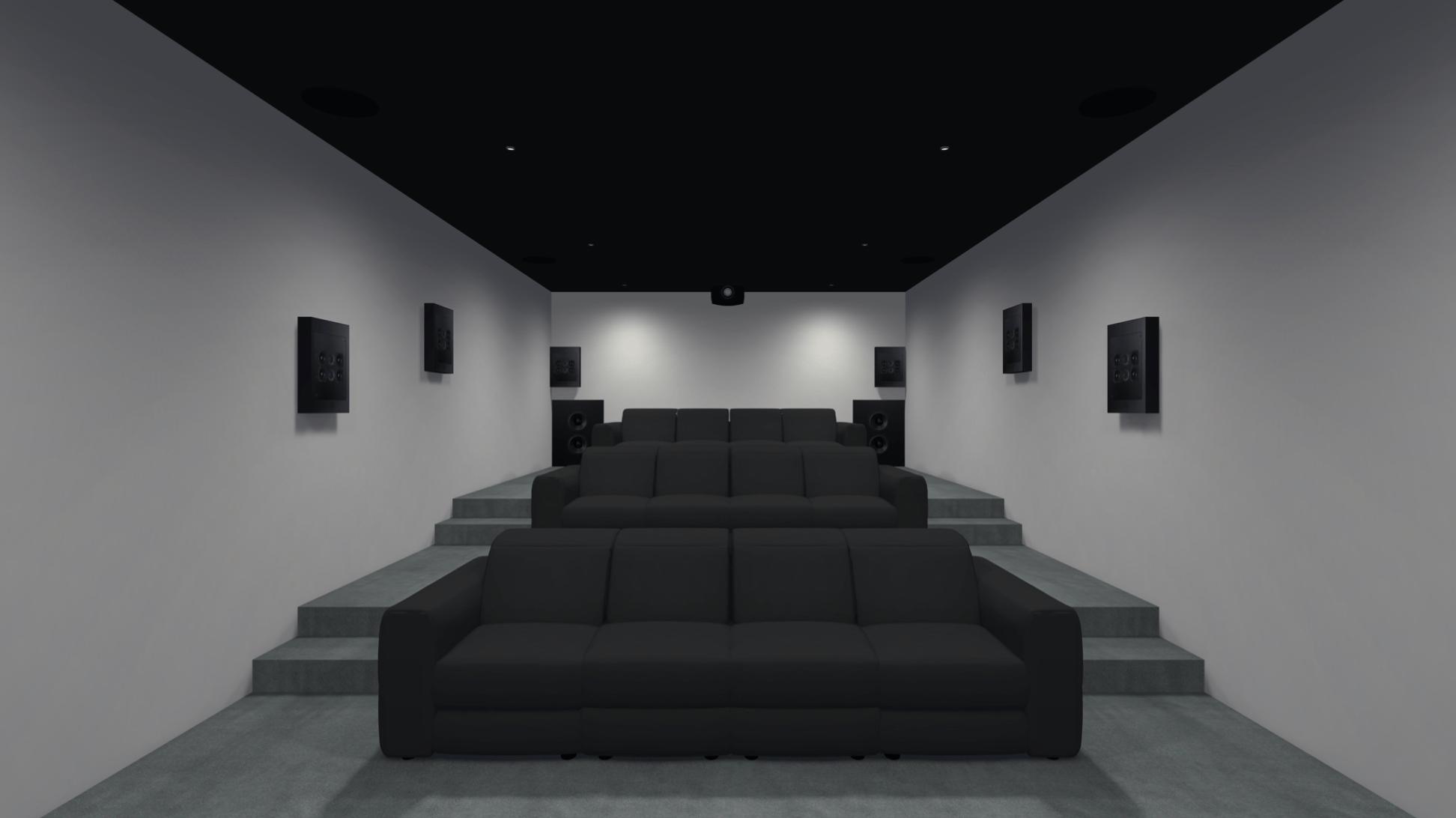 Basement Dedicated Home Cinema