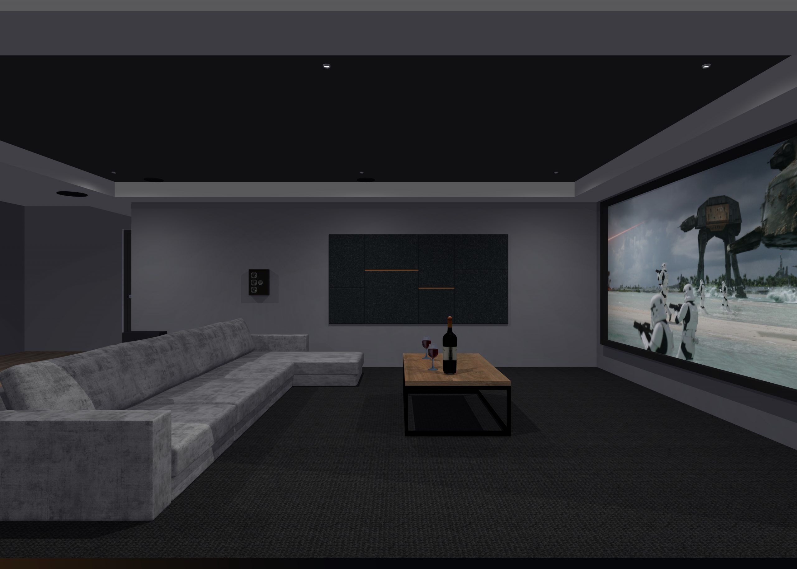 Current project - Garage conversion cinema